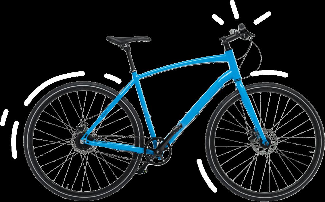 Ilustración de bicicleta azul