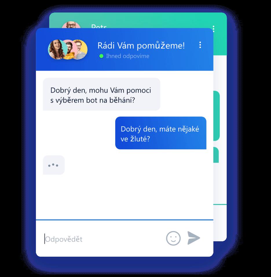 Uzpůsobení barev Smartsupp chat boxu