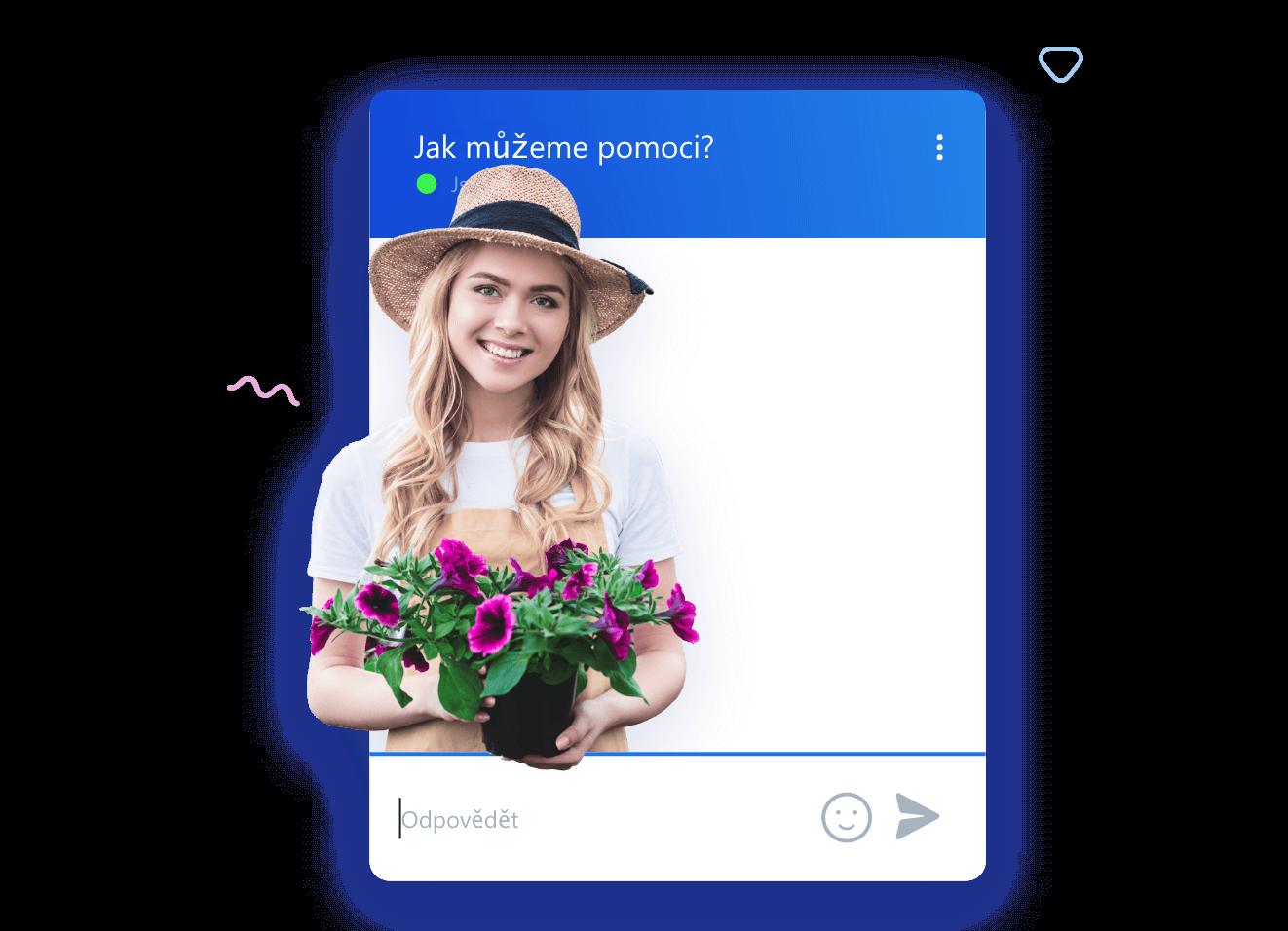 Konverzace widgetu Smartsupp chatu