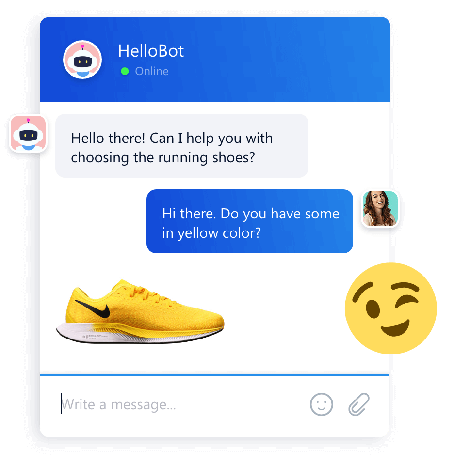 Smartsupp chat bot conversation widget