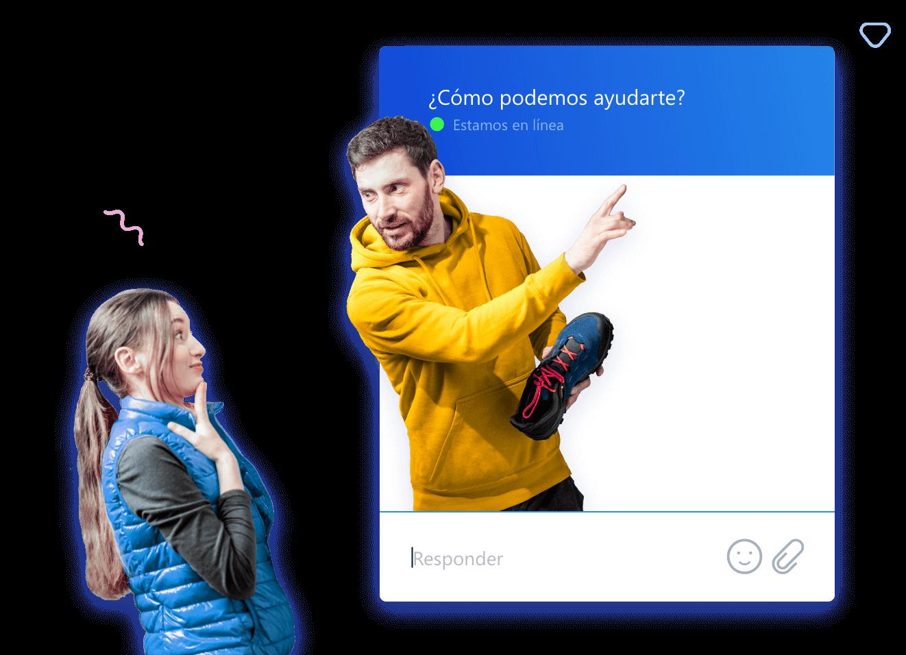 Chatea con los visitantes de tu sitio web y conviértelos en clientes satisfechos