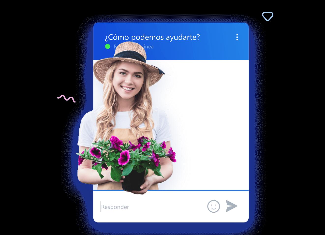 Conversación del widget de la chat de Smartsupp