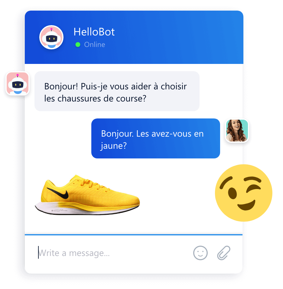 Smartsupp chat bot conversation widget