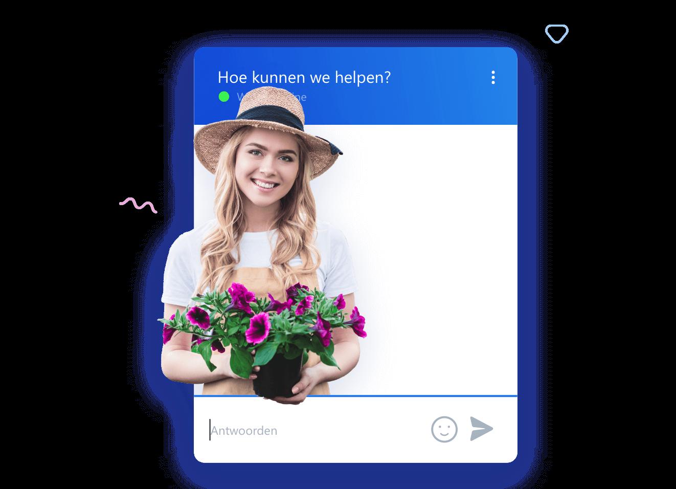 Smartsupp chat widget gesprek