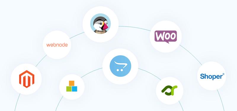 PrestaShop, OpenCart, WooCommerce, Magento, ...